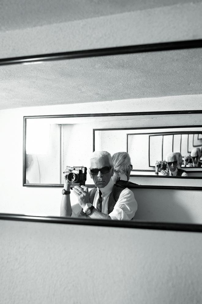 Karl Lagerfeld: Selbstporträt, 2005, Foto © Karl Lagerfeld